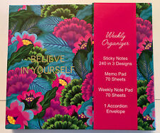 Pier 1 Weekly Organizer New Blue Amp Pink Floral Sticky Notes Memo Pad