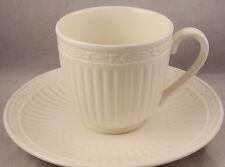 MIKASA ITALIAN COUNTRYSIDE COFFEE CUP SAUCER SET S 4 CREAM