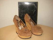 Sam Edelman Shoes Size 9 M Womens New Wesley Whiskey Suede Wood Wedge Oxfords