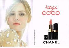 PUBLICITE ADVERTISING 014   2011   CHANEL  cosmétiques (2 pages)VANESSA PARADIS