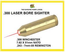 308 Bore Sighter .308 Laser Boresighter Remington .243 7mm-08 Copper Cartridge