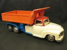 1950s Kaname Sangyo Japan Tin Friction Dump Truck Toy