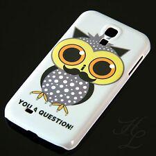 Samsung Galaxy S4 Hard Case Schutz Hülle Handy Schale Eule Bart Owl Etui