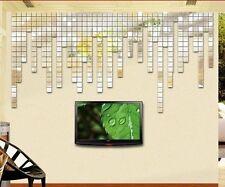 lots 100pcs 2x2cm DIY 3D Wall Sticker Mosaic Mirror Home Living Room Decor Art