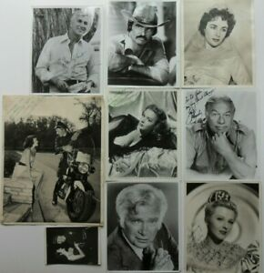 A RARE COLLECTION OF HAND SIGNED MOVIE STAR PHOTOS 'CHRISTIE'S PROVENANCE'
