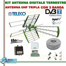 KIT COMPLETO ANTENNA COMBO TV DIGITALE TERRESTRE SWING 45 ELEMENTI 35db