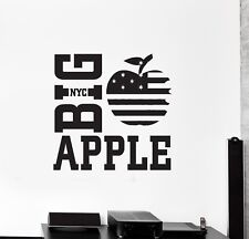 Vinyl Decal Wall Sticker Big Apple NY American Room Decor Unique Gift (g047)