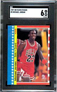 1987-88 Fleer Basketball MICHAEL JORDAN Sticker #2 SGC 6