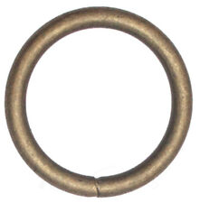 10 St. Rundringe 20mm x 3,0mm Stahl, Altmessing O-Ringe  Rundring O Ring O-Ring
