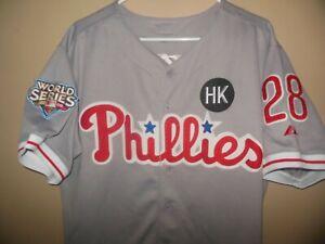 Philadelphia Phillies Werth #28 Majestic Baseball Jersey World Series HK Patch