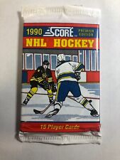 1990 Factory Sealed Score Premier Edition Hockey Card Pack 15 Cards