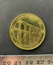ACUEDUCTO DE ROMA SEGOVIA 2014, Medalla Coleccion Nacional, brass Proof