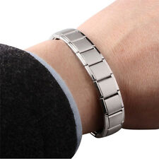 Men Stainless Watchband Bracelets Magnet Germanium Health Titanium Steel Bangles