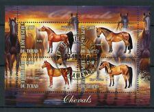 Chad 2013 CTO Horses Shagya Arabian Kiger Mustang Horse 4v M/S Animals Stamps