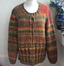 HAND Knitted MARMO trama grossa maglione Cavo da bexknitwear