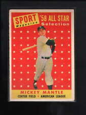 1958 TOPPS #487 MICKEY MANTLE EX D2666