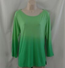 NWOT Ralph Lauren 3/4 Sleeve Green Ombre Knit Top Size Large L