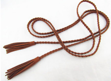 Girl Bohemian Boho Belt Band Tie Women Lady Long Suede leather Tassel Waist