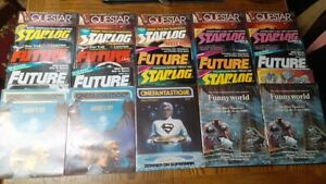 Lots of 5 Comic/Sci-Fi Fanzines New Old Stock Questar Future Starlog RBCC Cinef.