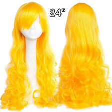 Elegant Long Hair Wig Straight Curly Full Wig Synthetic Party Halloween Costume