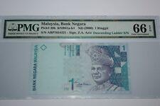 (PL) NEW: RM 1 ABP 7654321 PMG 66 EPQ NICE, FANCY & DESCENDING LADDER NUMBER
