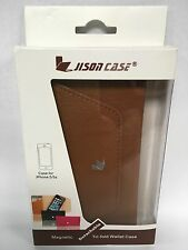 Jisoncase Magnetic Leather Wallet Case iPhone 5/5s JS-I5S-02C20