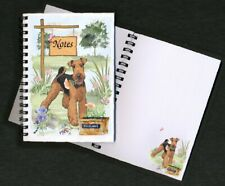 Airedale Terrier Dog Notebook/Notepad + small image on every page by Starprint