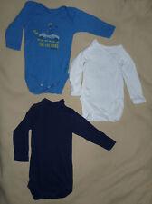 Lot de 3 bodys manches longues bébé garçon 6 mois Petit bateau, Pommette... BE