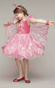Pink Butterfly Costume Chasing Fireflies Size 10 Brand New Unopened