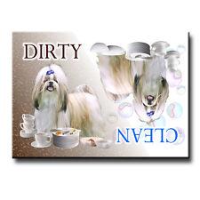 SHIH TZU Clean Dirty DISHWASHER MAGNET New DOG