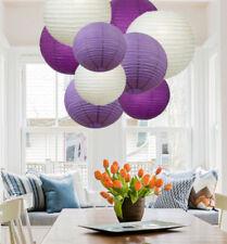 12 PCs Mixed New Round Paper Lanterns Lamp Shade Wedding  Decor (Purple Shade)