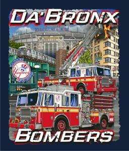 "New York City ""Da Bronx Bombers"" Navy Fire Dept. Tee"