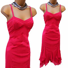 KAREN MILLEN VINTAGE FAZZOLETTO DI SETA ROSA CLESSIDRA Downton Cocktail Dress 12