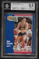 1991 Fleer John Stockton Utah Jazz LL #221 BGS 8.5 NM-MT+ Hall of Fame