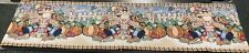 """Long Tapestry Table Runner,13""""x72"""", HAPPY HARVEST, SCARECROWS, PUMPKINS, LEAVES"""