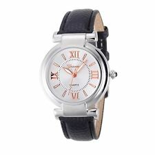 Ladies Girls Analogue Smart Rose Gold Silver Watch Watches Kids Black Strap UK