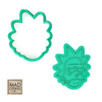 Rick cookie stamp. Rick cookie cutter. Rick and Morty Cartoon cookies.