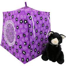 Purple, flower & heart print Toy Play Camping Tent, 2 Sleeping Bags, handmade
