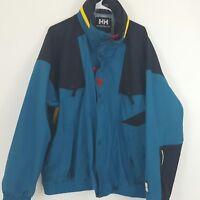 77e892e7bdd Vintage Helly Hansen Equipe Ski Jacket Teal Green Black 90s Mens Size XXL  2XL