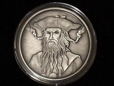 1 oz Antique Blackbeard Silver Round- with Coa - Free Shiping