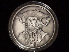 1 oz Antique Blackbeard Silver Round- with COA -
