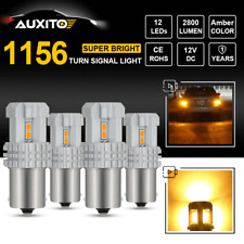 4X CREE 1156 BA15S P21W 7506 Amber Yellow LED Turn Signal Lamp BRIGHT 2800LM 12V