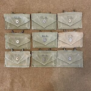 WWII WW2 US Army M1924 M1942 First Aid Pouch Olive Drab