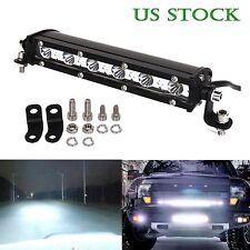 SLIM 7 INCH 18W CREE LED WORK LIGHT BAR SINGLE ROW DRIVING LAMP UTE ATV SUV JEEP
