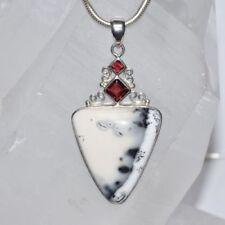 Markenlose Granate Echtschmuck-Halsketten & -Anhänger mit Cabochon-Schliffform