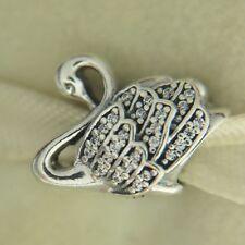Authentic Pandora 791732CZ Majestic Swan CZ Sterling Silver Bead Charm