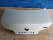 JDM 03-07 Nissan Skyline 350GT Infiniti G35 Coupe V35 OEM Rear Trunk Lid Emblems