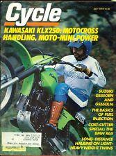 1979 Cycle Magazine: Kawasaki KLX250/Suzuki GS550EN & GS550LN/BMW R65