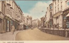 PENZANCE( Cornwall) : Market Jew Street-postcard offset on back