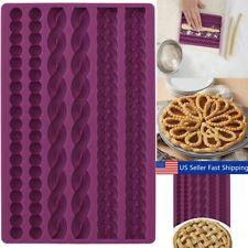 3D Knit Rope Pearl Silicone Fondant Mould Cake Border Decor Sugar Icing Gumpaste